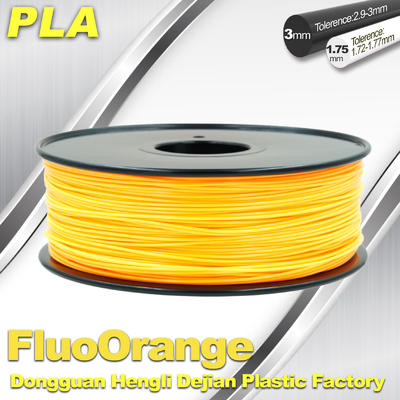 China da cópia fluorescente do filamento 3D do PLA de 1.75mm rigidez material alta fornecedor